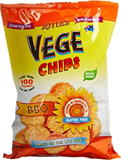 Ajitas Vege Chips Barbeque Flavour Chips, 6 x 100 Grams