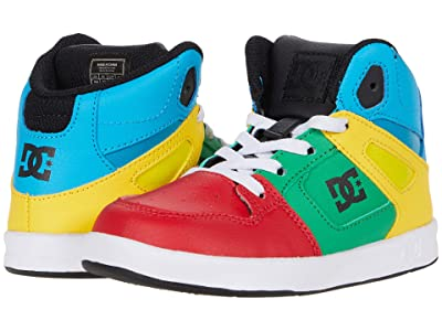 DC Kids Pure High-Top SE UL SN (Toddler) (Rainbow) Boys Shoes