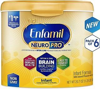 Enfamil 美赞臣 NeuroPro婴儿配方奶粉,奶粉桶可重复使用,?#23458;?0.7盎司(约587g)(6件装)