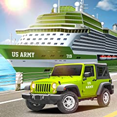 Army Cargo Truck simulator 2018 Drive Military vehicles Cargo Plane Simulator & Ship Captain Modern Army tank transport New army transport games Ship Captain Simulator