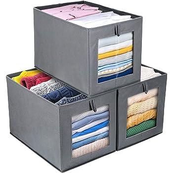 Zeller 14130 - Caja de almacenaje de tela, plegable, 28 x 28 x 28 cm, color gris: Amazon.es: Hogar