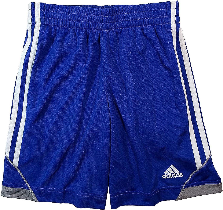 adidas Boys' Athletic Short (Medium, Royal Blue/Grey)