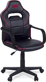 comprar comparacion Adec - DRW, Silla de Escritorio Estudio o despacho, sillón Gaming Acabado en Color Negro y Rojo, Medidas: 60 cm (Ancho) x ...