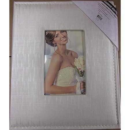 Amazon Com Worldus White Wedding Photo Album With Oval Opening On Cover Holds 30 8x10 Photos Home Kitchen