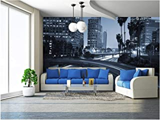 wall26 - Traffic Through Downtown Los Angeles - Removable Wall Mural | Self-Adhesive Large Wallpaper - 100x144 inches