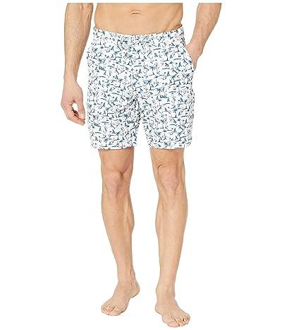 Robert Graham Attwood Swim Shorts (White) Men