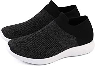 Men Athletic Walking Shoes Fly-Knit Upper Utra-Lightweight Fashion Sneakers Breathable Running Shoes