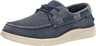Skechers Men's Status 2.0-Lorano Moc Toe Canvas Deck Shoe Moccasin