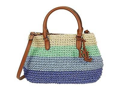 LAUREN Ralph Lauren Crochet Straw Marcy II Satchel Mini