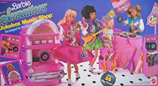 Barbie and The Sensations JUKEBOX MUSIC SHOP Playset w 35+ Pieces - Records Really Spin! (1987 Mattel Hawthorne)