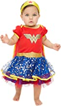 Wonder Woman Baby Girls' Costume Bodysuit Dress with Tiara & Cape