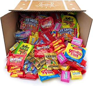 Snack Chest Assorted Candy Party Mix Bulk Twizzlers Nerds Swedish Fish Sour Patch Skittles Starburst and Much More of Your Favorite Candy. Over 200 Individually Wrapped Candy (90 oz)