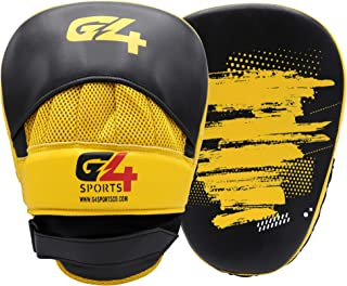 G4 VISION Curved Focus Pads Hook and Jab Pads PU Leather Pads Mitts for Coaching in Boxing MMA Kickboxing Martial Arts Mua...