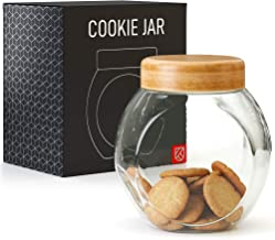 Cookie Jar for Kitchen Counter - Glass Jar with Lid - Cookie, Pastries, Cake and Candy Jar - Kensington London BPA-Free Cl...