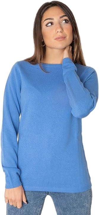 maglia scollo a barchetta Marino marini - donna - cashmere 100% B08MV9413Q
