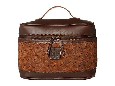 STS Ranchwear Basket Weave Train Case (Brown) Bags