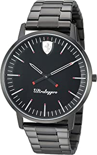 Ferrari Mens Quartz Watch, Analog Display and Stainless Steel Strap 830563