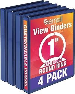 blue 1 inch binder