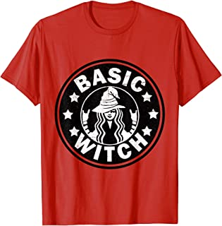 Funny Basic Witch Halloween Distressed T-Shirt T-Shirt