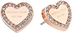 Michael Kors - Crystal Heart Studs Earrings