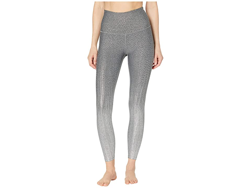 Beyond Yoga Drip Drop High-Waisted Midi Leggings (Black/White/Silver Drip Drop) Women