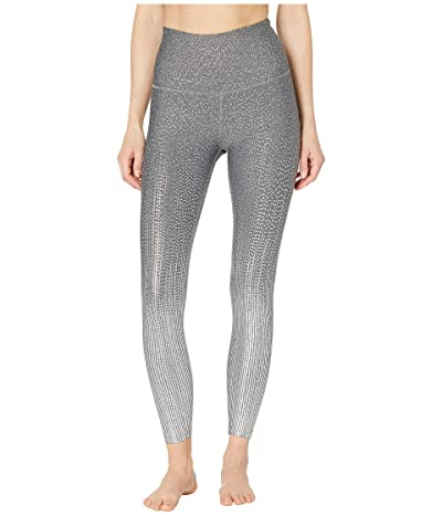 Beyond Yoga Drip Drop High-Waisted Midi Leggings (Black/White/Silver Drip Drop) Women
