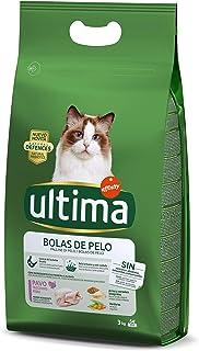 comprar comparacion Ultima Pienso para Gatos para Prevenir Bolas de Pelo con Pavo - 3kg