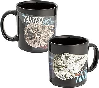 Vandor 99963 Star Wars Hans Solo Millennium Falcon Heat Reactive Color Changing Soup Coffee Mug Cup, 20 Ounce