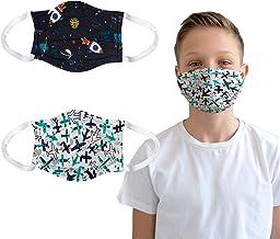 La Textilerie | Kids face mask | 100% Cotton Comfortable Easy Breathing | 2 pcs Set for Children
