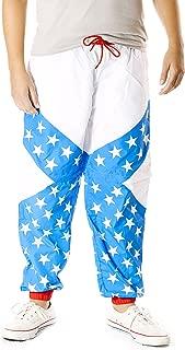 80s & 90s Retro Neon Windbreaker Pants - Convertible Shorts Or Pants
