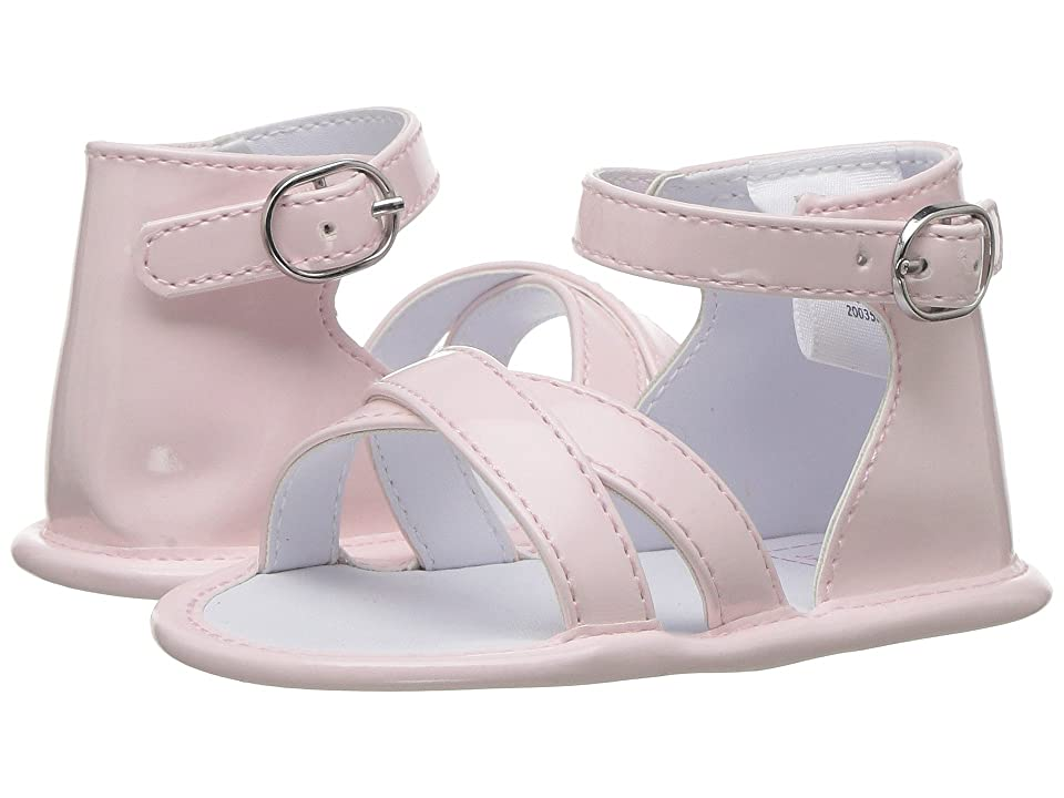 Janie and Jack Simple Sandal (Infant) (Dollface Pink) Girls Shoes
