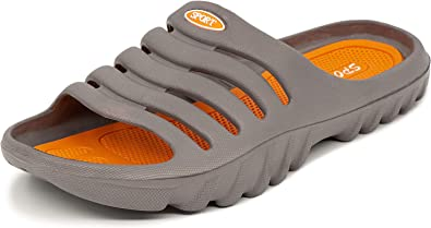 LEKANN 919A Men's Floats, Bath Slippers, Shower and Bath Shoes, Light and Comfortable, Size 40-49 EU Grey Size: 9 UK