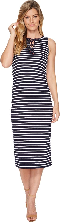 Joules - Anita Jersey Tie Neck Dress