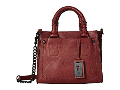 Frye Demi Mini Satchel (Burnt Apple Antique Soft Vintage) Satchel Handbags