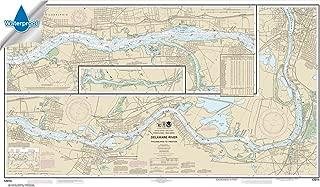Paradise Cay Publications NOAA Chart 12314: Delaware River Philadelphia to Trenton 26.5 x 45.8 (WATERPROOF)