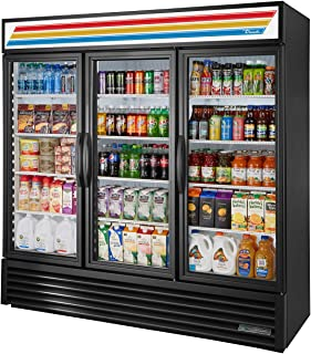 True GDM-72-HC~TSL01 Triple Swing Glass Door Merchandiser Refrigerator with Hydrocarbon Refrigerant and LED Lighting, Holds 33 Degree F to 38 Degree F, 78.625