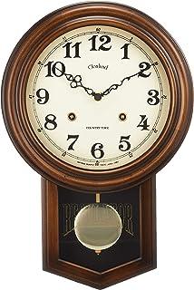 さんてる アンティーク電波振り子時計(丸型) ブラウン DQL623