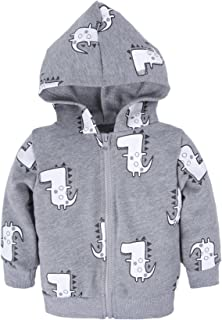 BIG ELEPHANT Baby Boys'1 Piece Hoodie Zipper Closure Long Sleeve Coat Outwear Q47