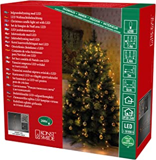 LED Innen Lichterkette Christbaumbeleuchtung Weihnachten Baumkerzen warmweiß OVP