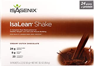 Isagenix Isalean Shake Dutch Chocolate French Vanilla Strawberry Protein Shake - 14 X 1 Meal Packets (Dutch Chocolate)