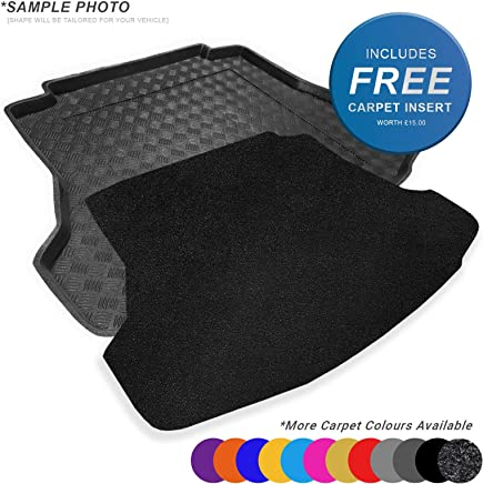 Boot Liner Mat Tray with Velour Insert with spare tyre boot  does not fit models with tyre inflation kit