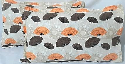 Sofi's Cornerstone 2 Piece Cotton Pillow Cover Set -18 inch x 28 inch (Cream Orange)