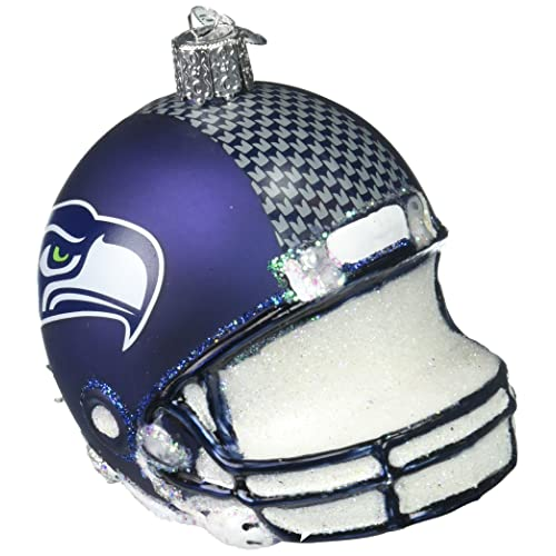 1d3704969 Old World Christmas Glass Blown Ornament Seattle Seahawks Helmet