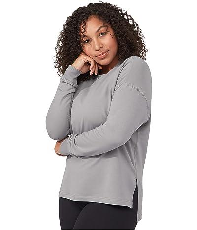 manduka Envelope Sweatshirt (Heathered Silver Filigree) Women