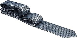 Gravata azul claro com ondas cinza escuro