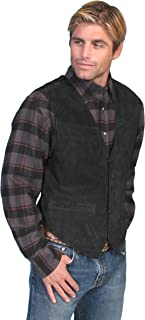scully men's boar suede leather vest