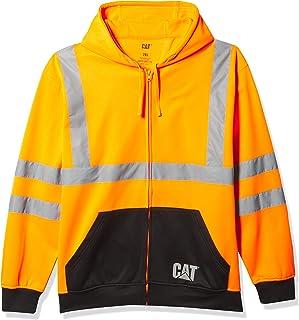 Caterpillar Men's Hi-Vis Full Zip Colorblock Sweatshirt