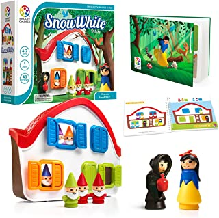 SmartGames Snow White - Deluxe Cognitive Skill-Building Puzzle Game Featuring 48 Playful Challenges for Ages 3+