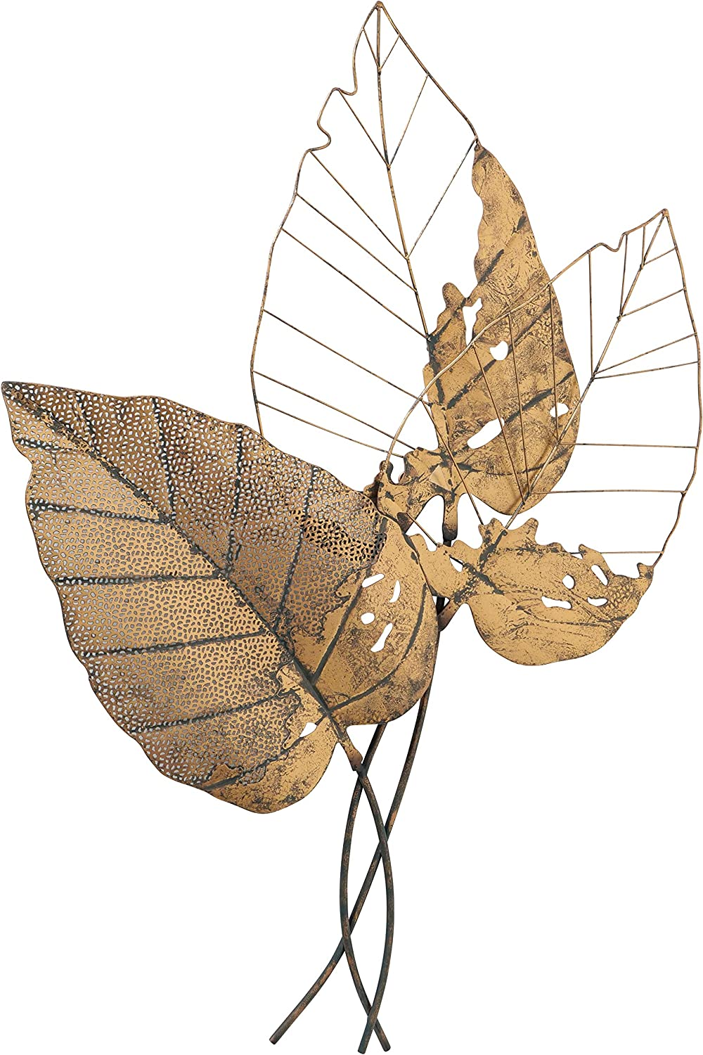 WHW Whole Super intense SALE Max 78% OFF House Worlds Oversized Wall Art Sculpture Antiqu Leaf