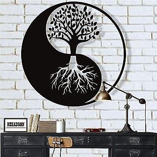 Metal Wall Art, Tree of Life Wall Art, Metal Yin Yang Decor, Metal Wall Decor, Interior..